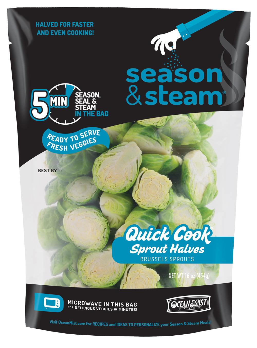 Season & Steam: Quick Cook Sprout Halves