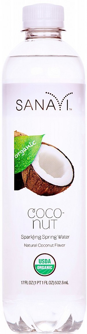 Sanavi Organic Sparkling Spring Waters Coconut is a HIT!