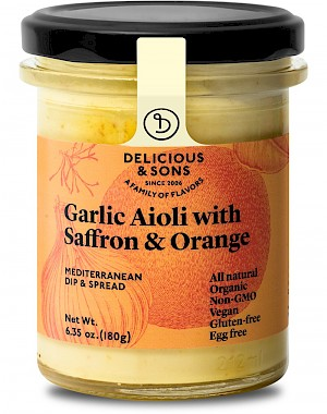 Delicious & Sons Garlic Aioli Saffron & Orange is a HIT!