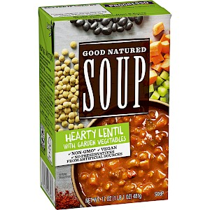 Progresso Good Natured Soup Hearty Lentil with Garden Vegetables is a HIT!