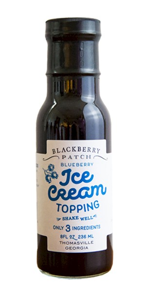 Blackberry Patch Blueberry Ice Cream Topping is a HIT!