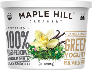 Maple Hill Creamery Whole Milk Greek Yogurt Vanilla Bean is a HIT!