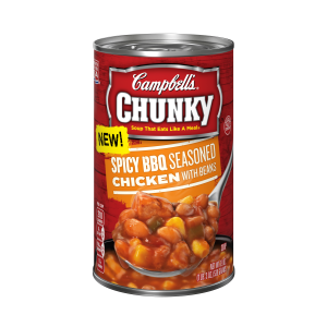 Campbell's Chunky Soup Spicy BBQ Seasoned Chicken with Beans Soup is a HIT!
