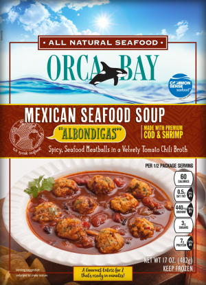 Orca Bay Albondigas Spicy, Seafood Meatballs in a Velvety Tomato Chili Broth is a HIT!