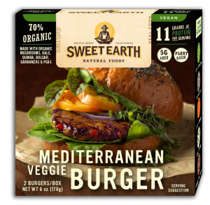 Sweet Earth Foods Mediterranean Veggie Burger