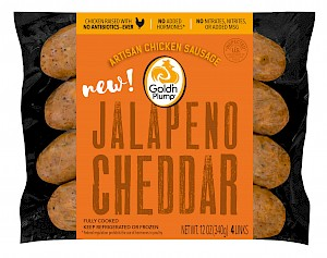 Gold'n Plump Fully Cooked Chicken Sausages Jalapeno Cheddar