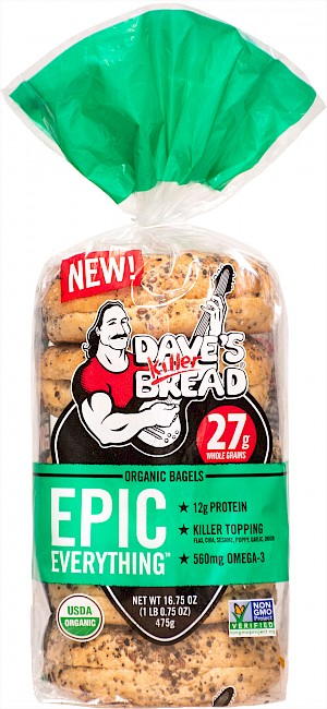 Dave's Killer Bread Organic Bagels Epic Everything