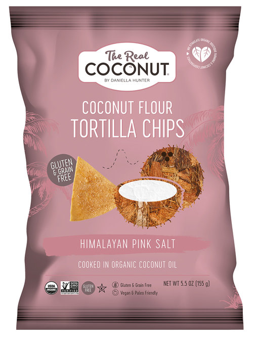 The Real Coconut Coconut Flour Tortilla Chips Himalayan Pink Salt