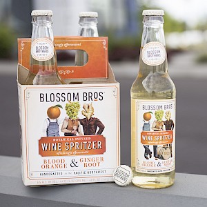 Blossom Brothers Artisan Wine Spritzer Blood Orange & Ginger Root