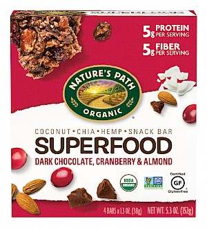Nature's Path Superfood Snack Bar Dark Chocolate, Cranberry & Almond