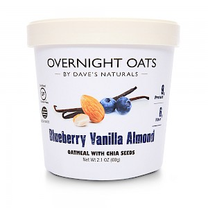 Dave's Naturals Overnight Oats Blueberry Vanilla Almond