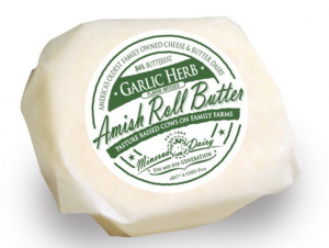 Minerva Dairy Flavor-infused Amish Roll Butter Garlic Herb