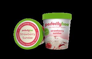 perfectlyfree (tm) non-dairy frozen dessert Strawberry Sundae