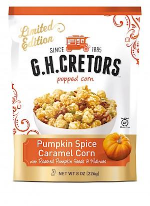 GH Cretors Popped Corn Limited Edition Pumpkin Spice Caramel Corn