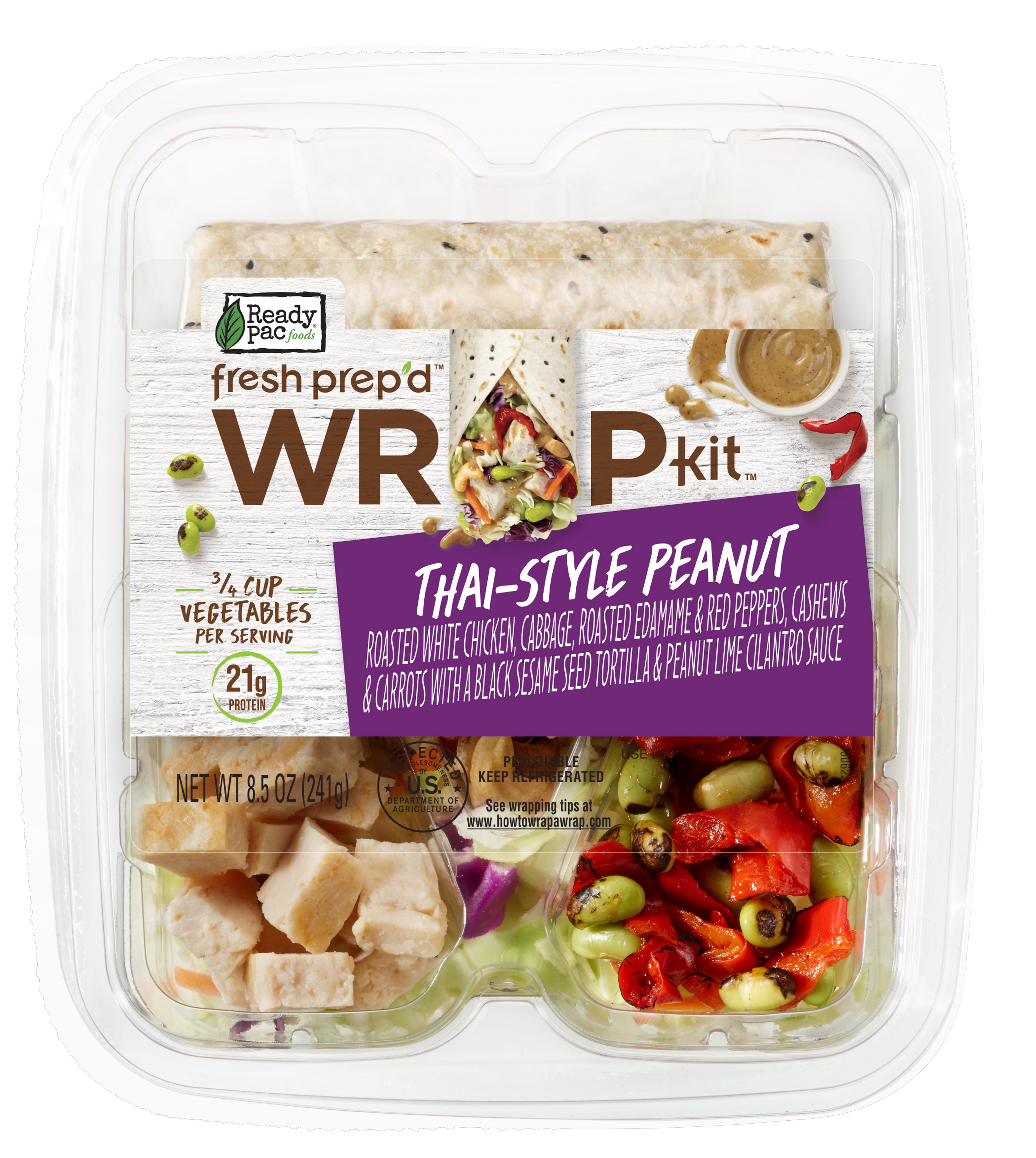 Ready Pac Foods Fresh Prep'd Wrap Kit Thai-Style Peanut