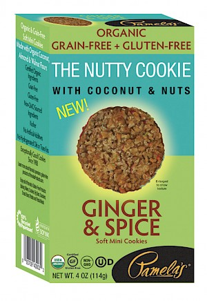 Pamela's The Nutty Cookie With Coconuts & Nuts Ginger & Spice Soft Mini Cookies