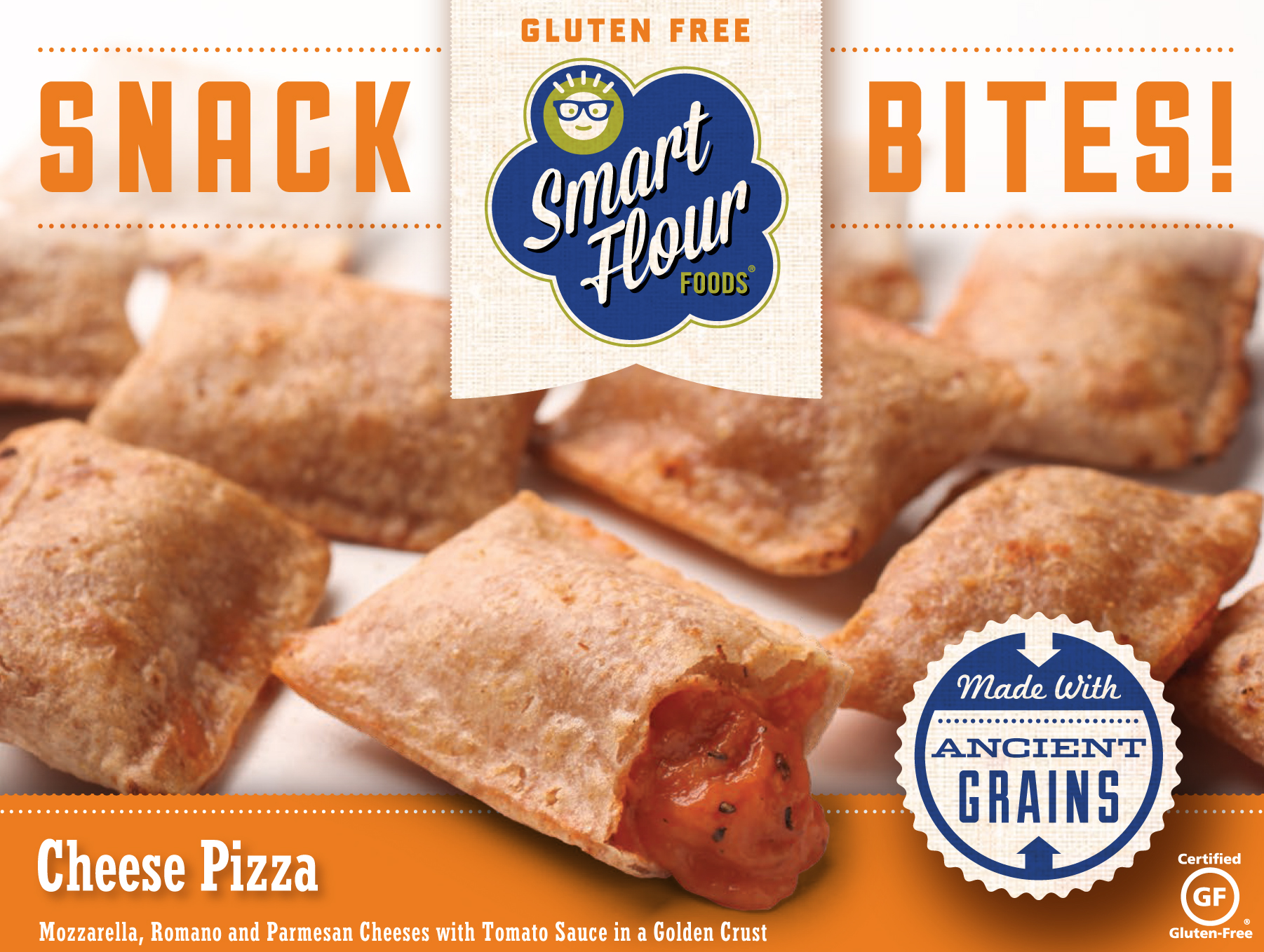 Smart Flour Foods Snack Bites Cheese Pizza