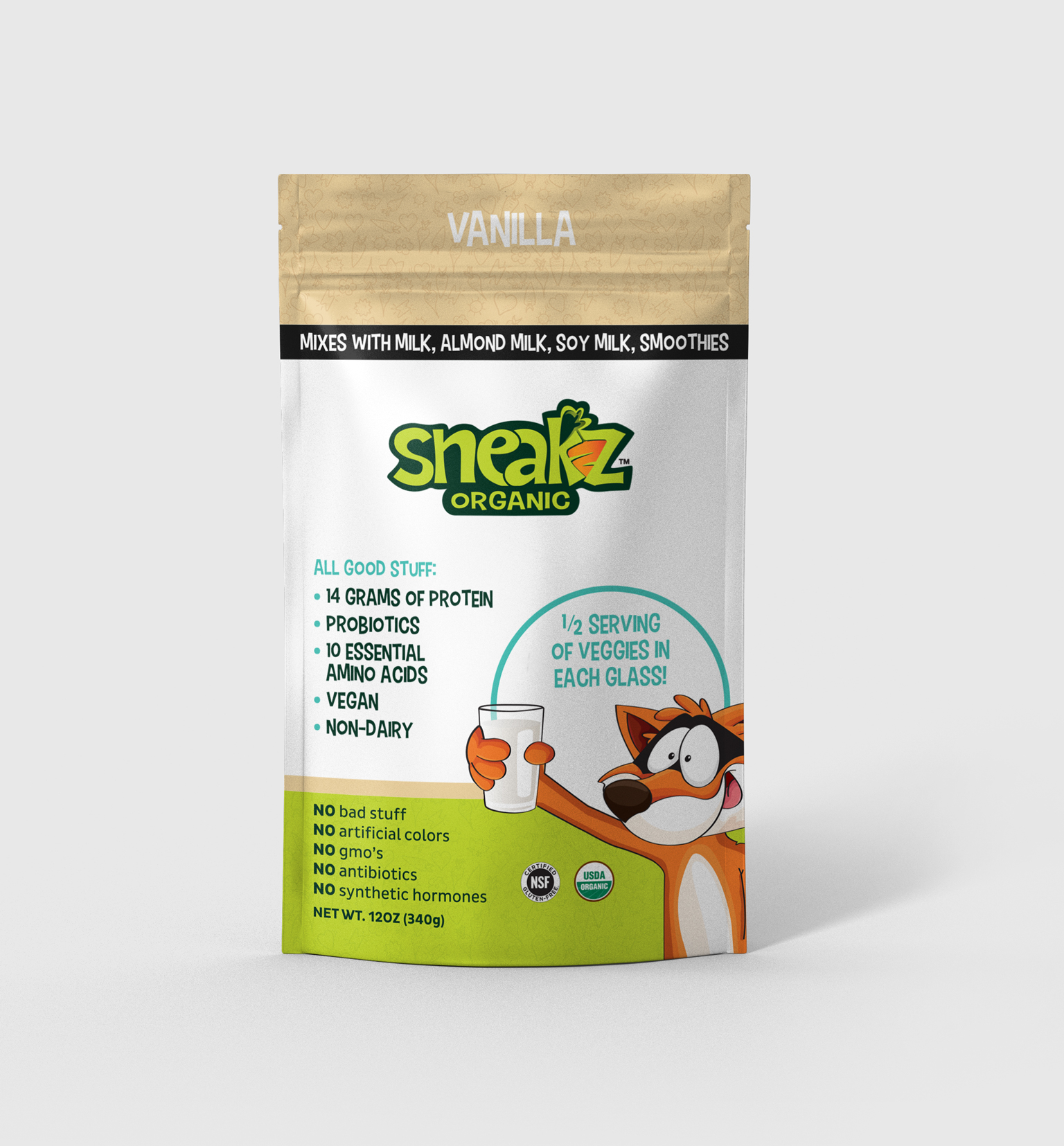 Sneakz Organic: Vegan Protein Powder and Drink Mix