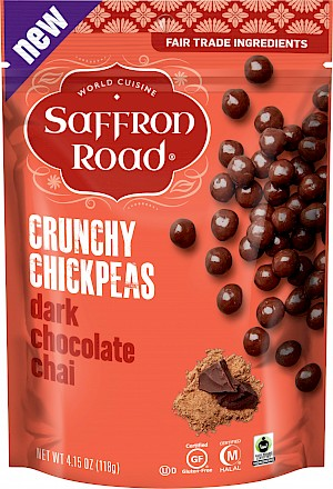 Saffron Road Crunchy Chickpeas Dark Chocolate Chai