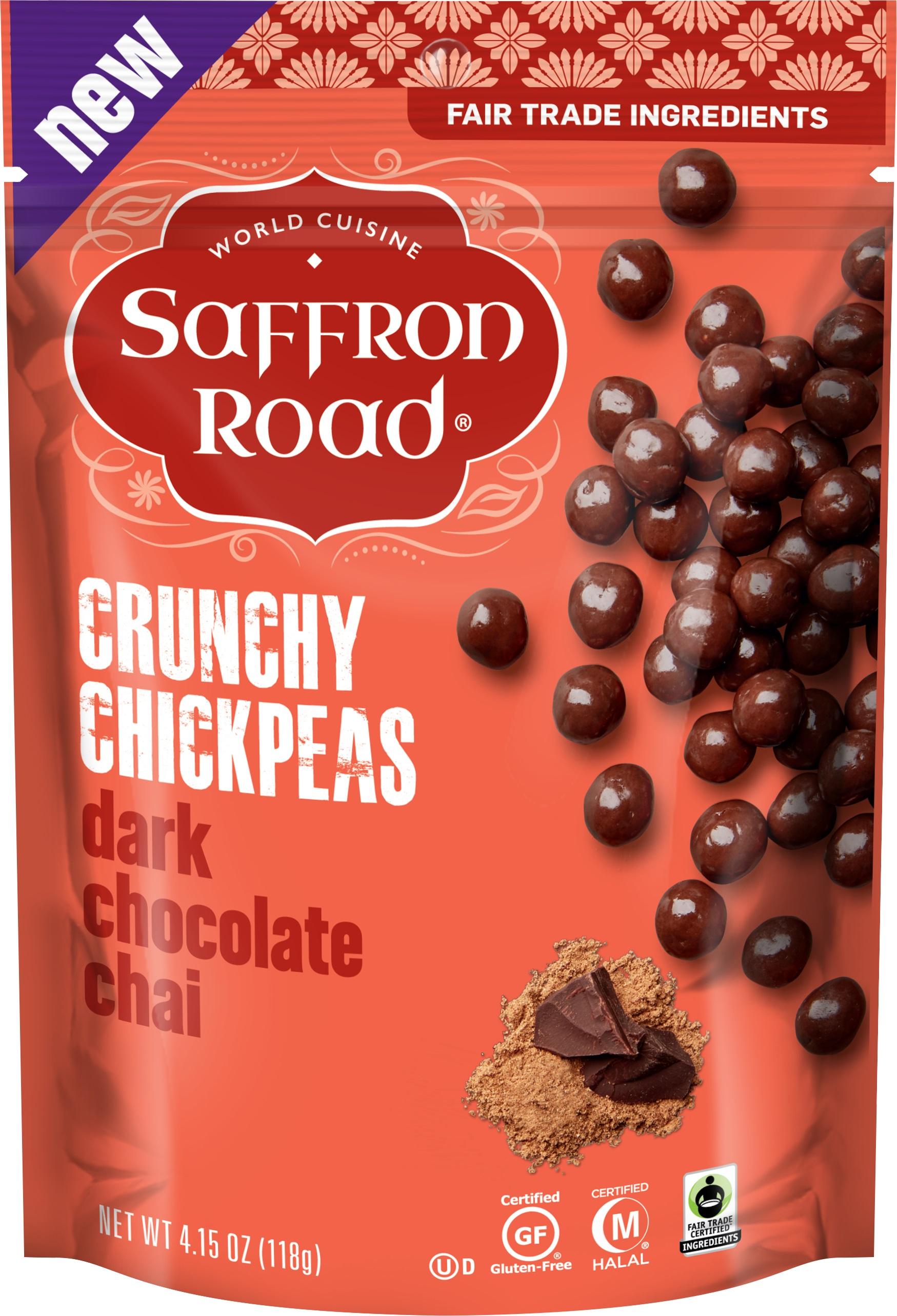 Saffron Road Crunchy Chickpeas Dark Chocolate Chai