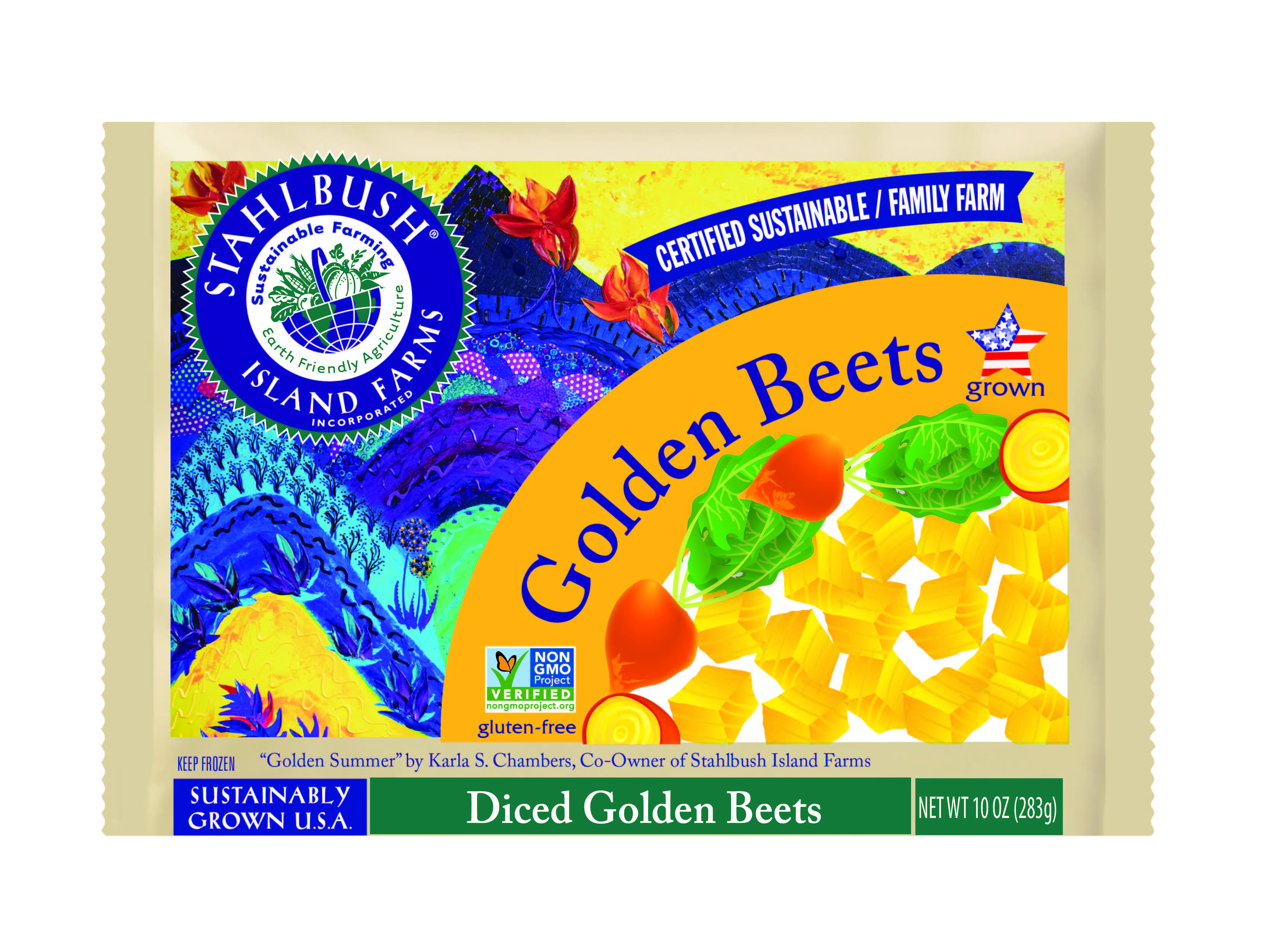 Stahlbush Island Farms: Diced Golden Beets (Frozen)
