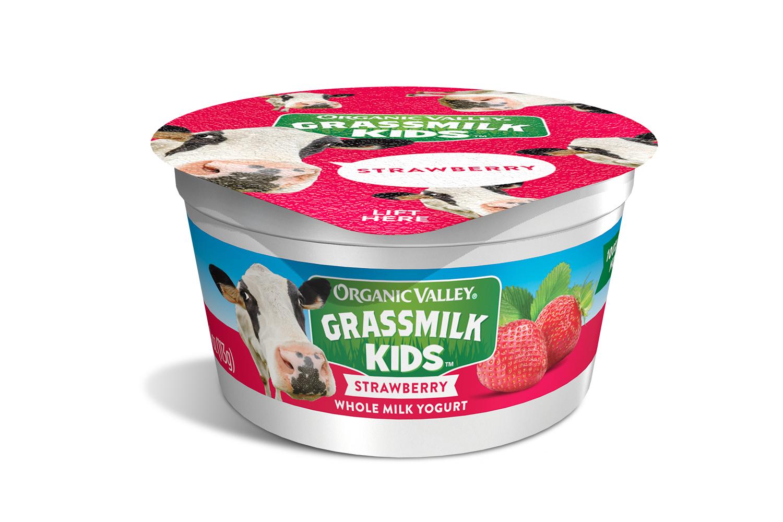 Organic Valley Grassmilk Kids Yogurt Cup Strawberry