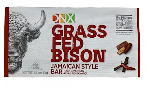 DNX Foods Grass-Fed Bison Bar Jamaican Style