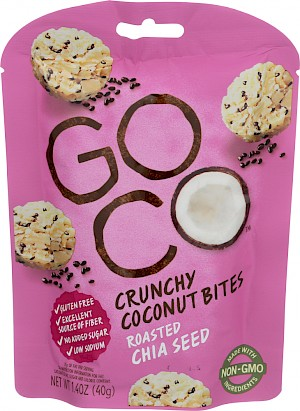 GoCo Crunchy Coconut Bites Roasted Chia Seed