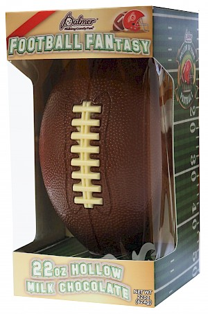 R. M. Palmer Company Football FANtasy Milk Chocolate
