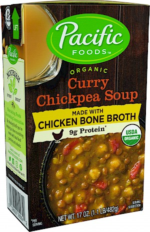 Pacific Foods Organic Soup with Bone Broth Curry Chickpea